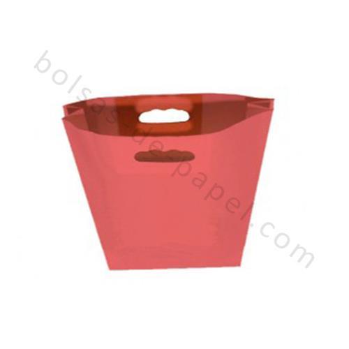bolsa kraft asa troquelada roja