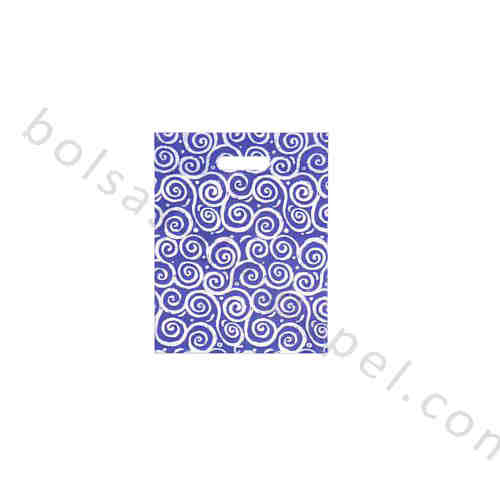BOLSA BUCLE AZUL PLASTICO 1