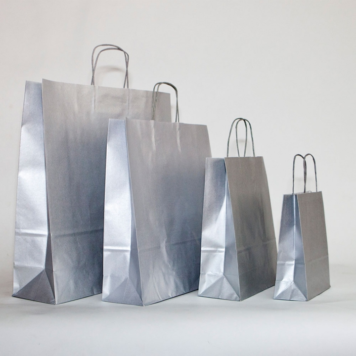 bolsas de papel plata