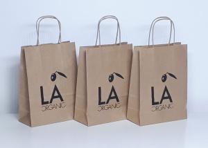 bolsas de papel asa retorcida impresas la organic
