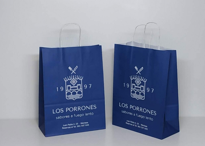 bolsas de papel impresa los porrones