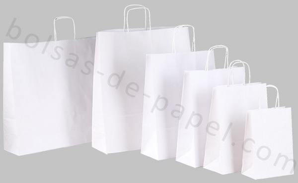 bolsas de papel blancas tienda online
