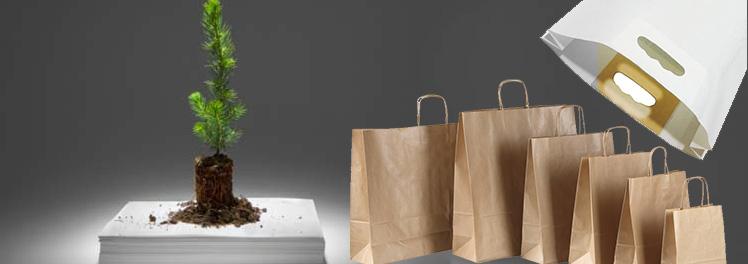 ecologico versus reciclado papel bolsas