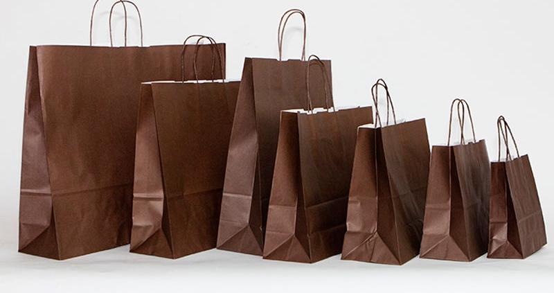 bolsas papel marron oscuro