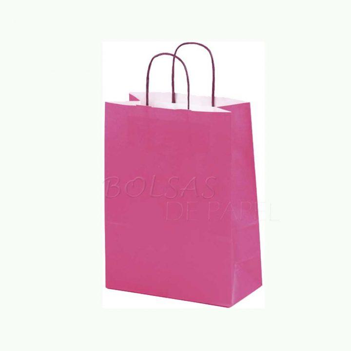 Bolsa de papel fucsia