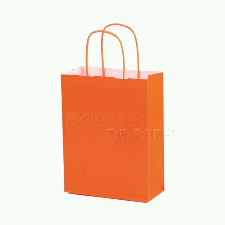 bolsas de papel naranja