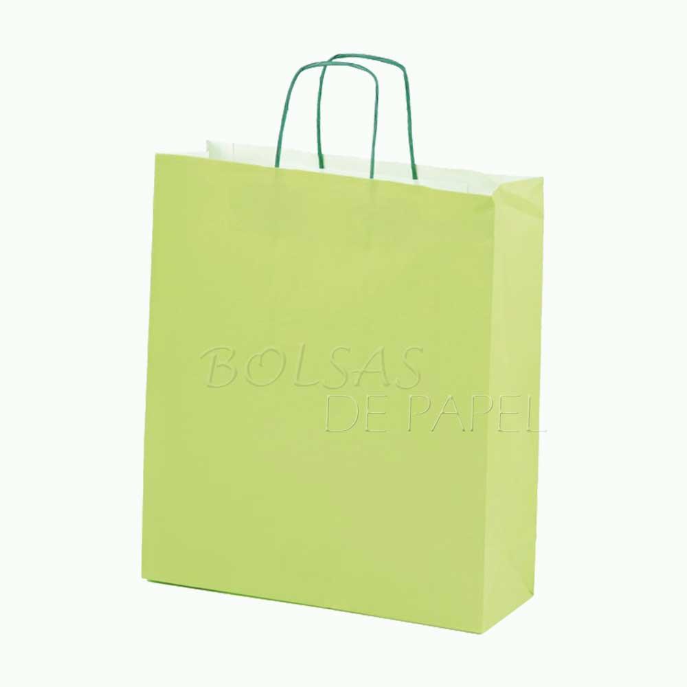 bolsas de papel verde claro