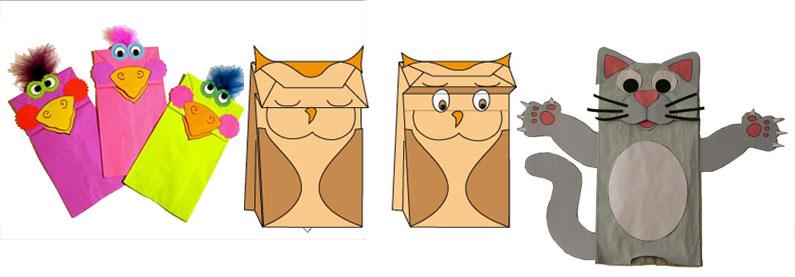 titeres con bolsas de papel y otras ideas