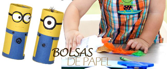 manualidades papel para hacer con niños bolsas de papel