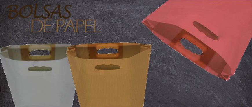 Bolsas de papel con asa troquelada