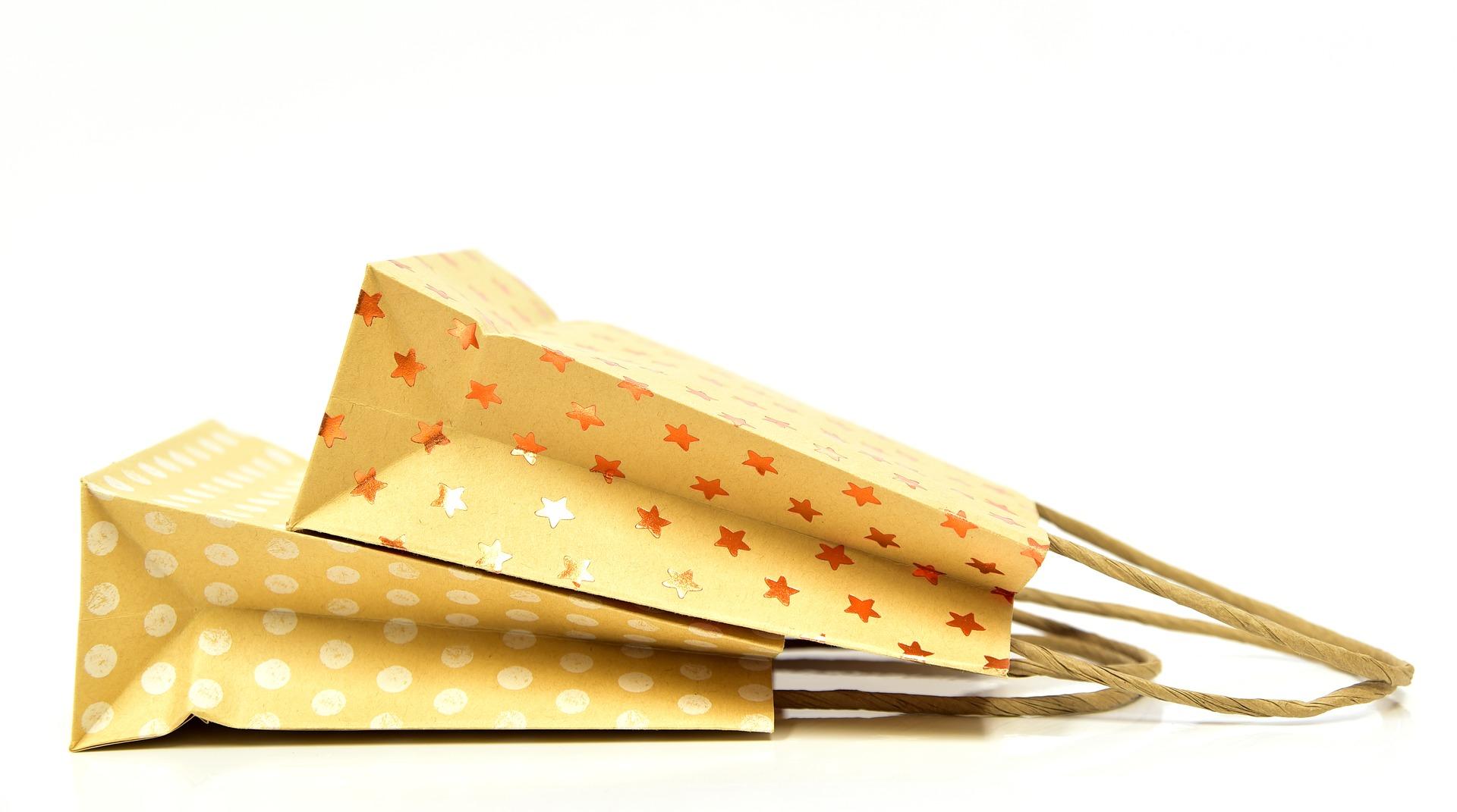Con bolsas de papel